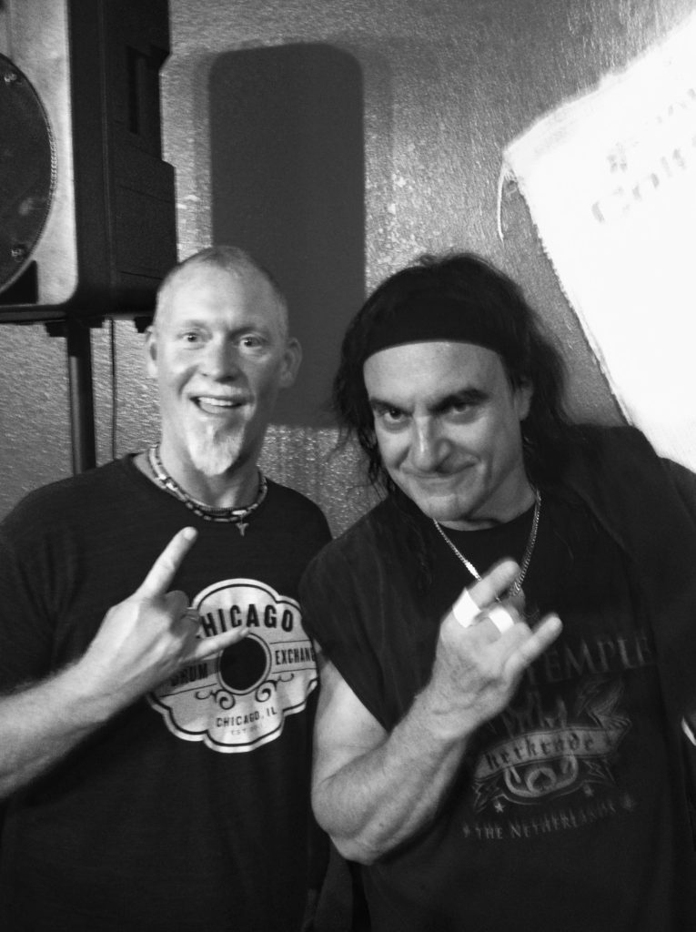Michael Sean with Vinnie Appice.
